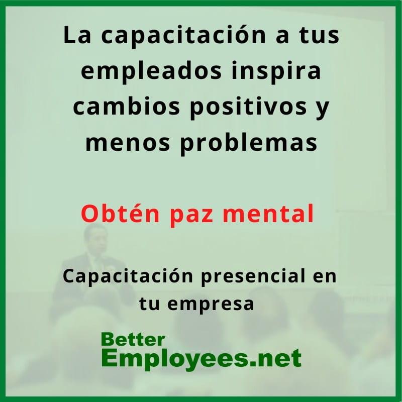 Capacitacion para empleados